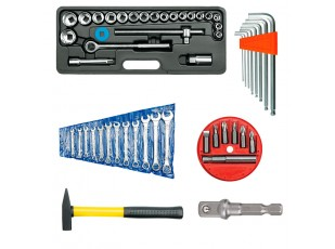 Fastening and adjustment tools kit