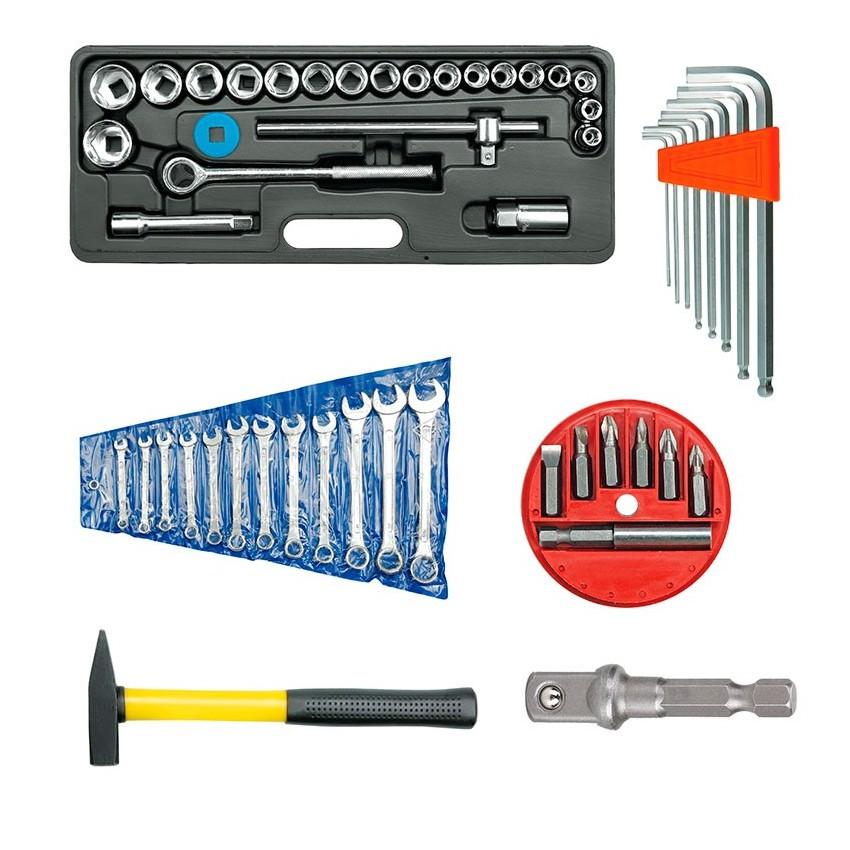 Fastening and adjustment tools kit
