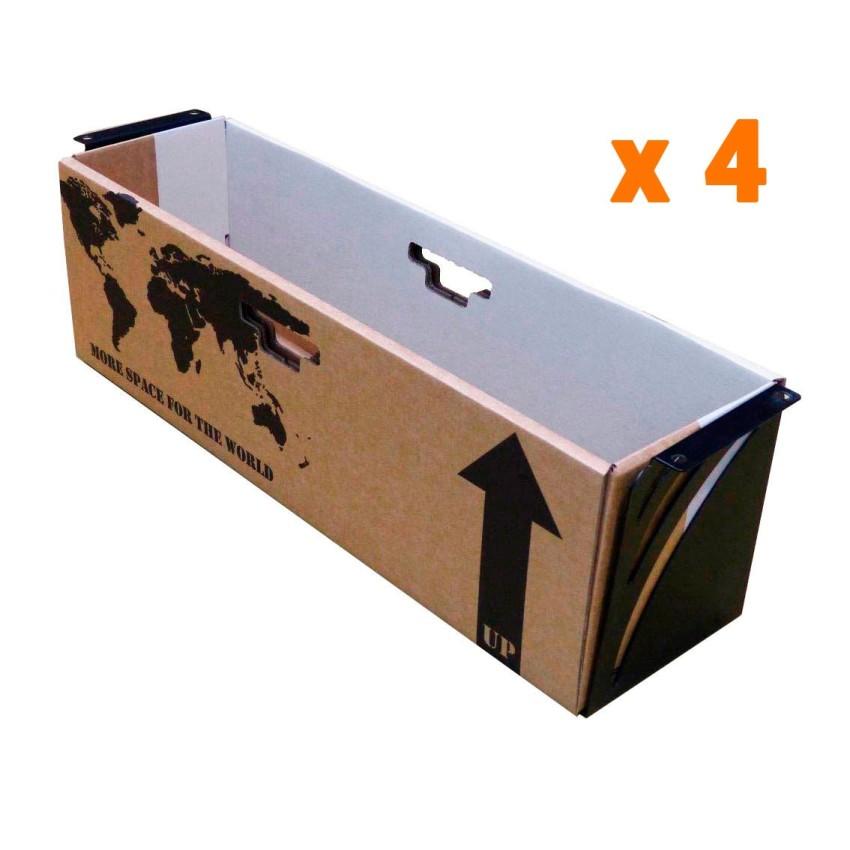 Cajón + Bandeja para escalera x4