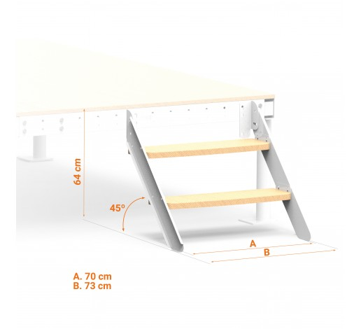 Truckel bed Straight Stairs