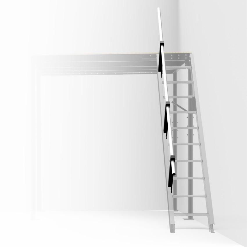Barandilla para escalera abatible a pared