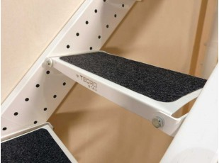 Self-adhesive mats for folding stairs