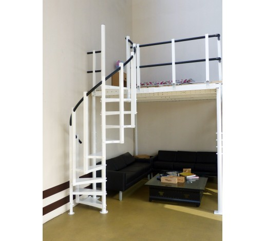 Withe Spiral Stairs S