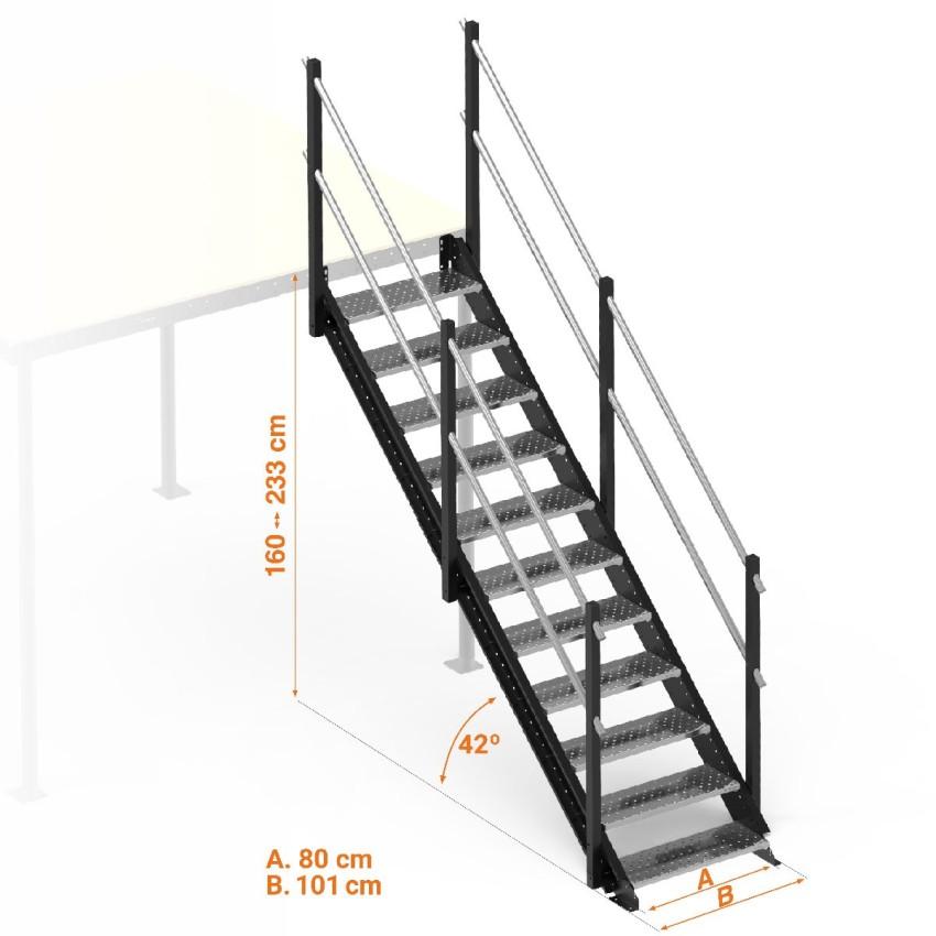 S Escalier droit large