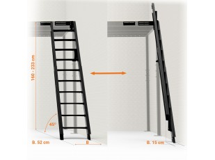 Folding Stairs to wall 45º S